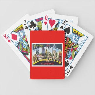 Hollywood California USA Bicycle Playing Cards