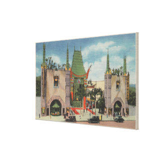 Hollywood, CAView of Grauman's Chinese Theatre Gallery Wrap Canvas