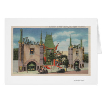 Hollywood, CAView of Grauman's Chinese Theatre Card
