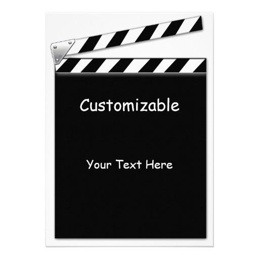 hollywood clapper board custom blank back 13 cm x 18 cm invitation card zazzle. Black Bedroom Furniture Sets. Home Design Ideas