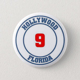 Hollywood florida 6 cm round badge