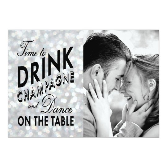 Hollywood Glam Save the Date Card