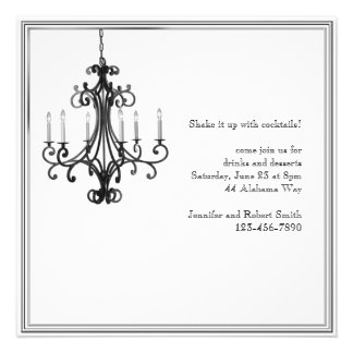 Hollywood Glamour Chandelier Party Invitation
