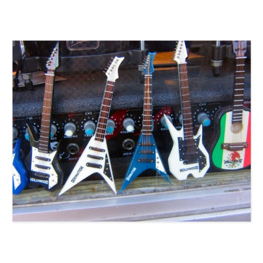 Hollywood Guitars Postcard
