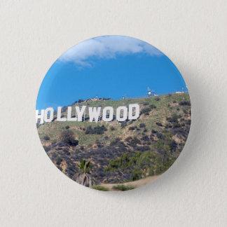 hollywood hills 6 cm round badge