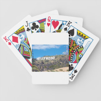 hollywood hills bicycle playing cards