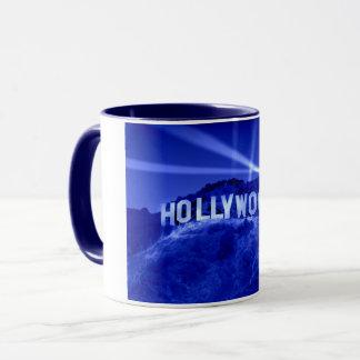 Hollywood in Blue Two Tone Mug