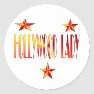hollywood lady classic round sticker