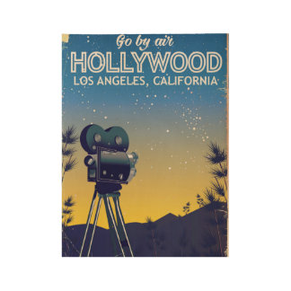 Hollywood Los Angeles California travel poster