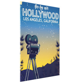Hollywood Los Angeles California travel poster Canvas Print