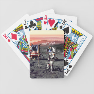 Hollywood Moon Man Bicycle Playing Cards