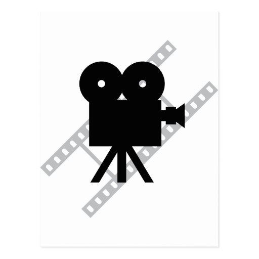 hollywood movie cine camera film postcards