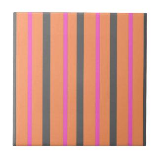 Hollywood Orange Stripes Ceramic Tile