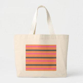 Hollywood Orange Stripes Large Tote Bag