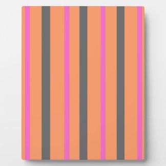 Hollywood Orange Stripes Plaque