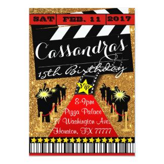 Hollywood Party, Hollywood Birthday Invitation