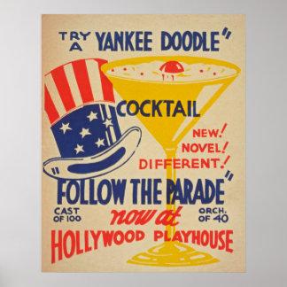 Hollywood Playhouse Vintage Poster