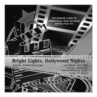 Hollywood Prom Invitations