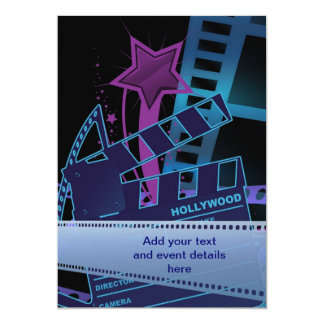 Hollywood Prom Template Card