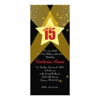 HOLLYWOOD quinceañera custom invitation RED