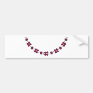 Hollywood Ruby Glamour Necklace Bumper Sticker