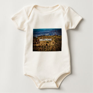 Hollywood Sign Iconic Mountains Los Angeles Baby Bodysuit