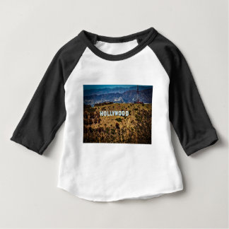 Hollywood Sign Iconic Mountains Los Angeles Baby T-Shirt
