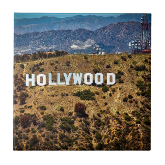 Hollywood Sign Iconic Mountains Los Angeles Ceramic Tile