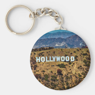 Hollywood Sign Iconic Mountains Los Angeles Key Ring