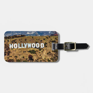 Hollywood Sign Iconic Mountains Los Angeles Luggage Tag