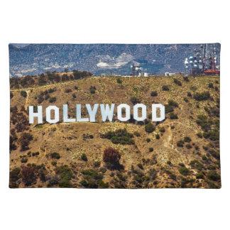 Hollywood Sign Iconic Mountains Los Angeles Placemat