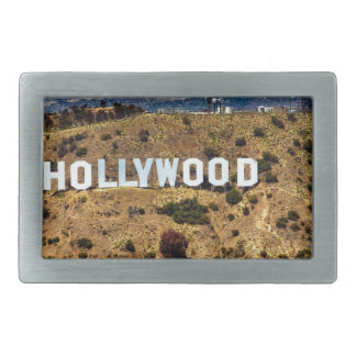 Hollywood Sign Iconic Mountains Los Angeles Rectangular Belt Buckles