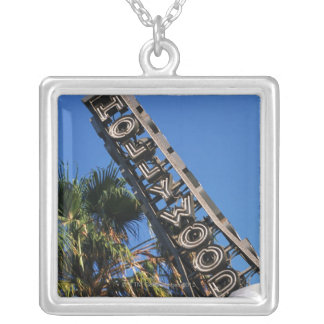 Hollywood sign, Los Angeles, California Silver Plated Necklace