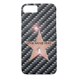 HOLLYWOOD STAR CELEBRITY iPhone 7 TEMPLATE CARBON iPhone 7 Case