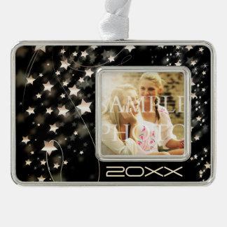 Hollywood Star Custom Photo Year Silver Plated Framed Ornament