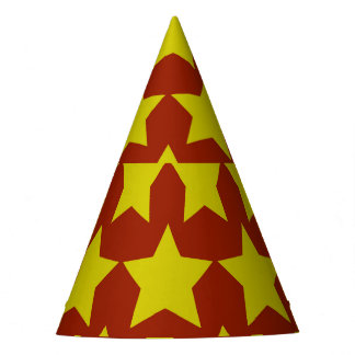 Hollywood star paper hat (red)