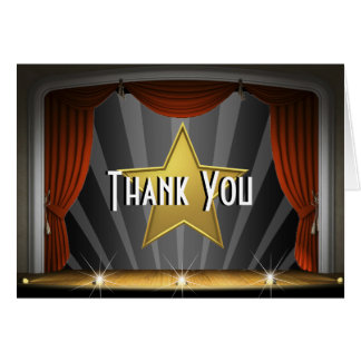 Hollywood Star Thank You Card