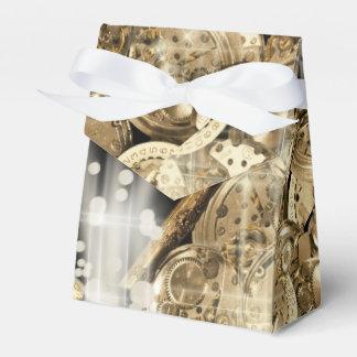Hollywood stars steampunk gold black favour box