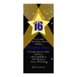 HOLLYWOOD sweet sixteen custom invitation BLUE