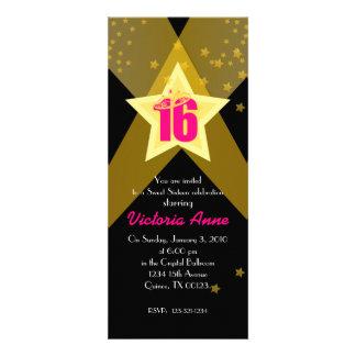 HOLLYWOOD sweet sixteen custom invitation PINK