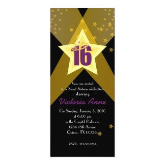 HOLLYWOOD sweet sixteen custom invitation PURPLE