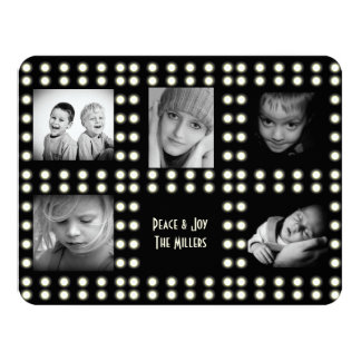 Hollywood Theme Holiday Card Family Photos Personalized Announcement