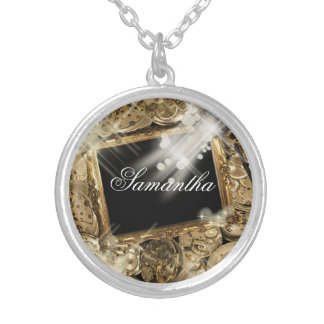 Hollywood wedding favors theme ideas silver plated necklace