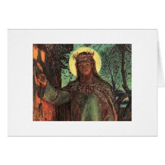 Holman Hunt Light of the World Greeting Card