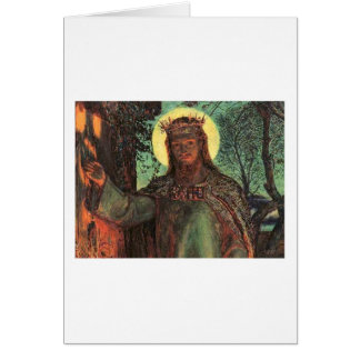 Holman Hunt Light of the World Greeting Card