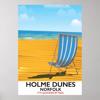 Holme Dunes Norfolk travel poster