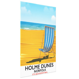 Holme Dunes Norfolk travel poster Canvas Print