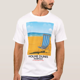Holme Dunes Norfolk travel poster T-Shirt