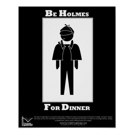 Holmes For Dinner Poster