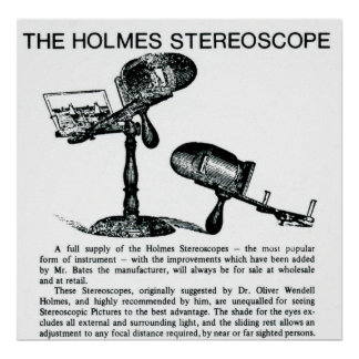 Holmes Stereoscope Vintage Advertisement Print